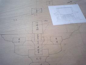 寺院建築の原寸図