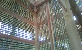 寺院 竹小舞の左官壁